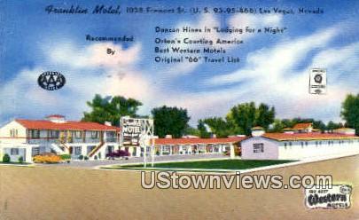 Franklin Motel - Las Vegas, Nevada NV Postcard