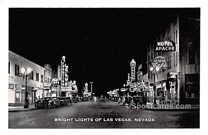Bright Lights, Small postcard - Las Vegas, Nevada NV