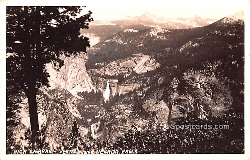 High Sierras - Nevada Falls Postcards, Nevada NV Postcard