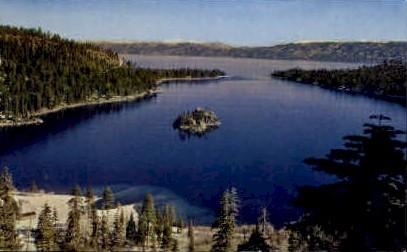Emerald Bay-Lake Tahoe - Nevada NV Postcard