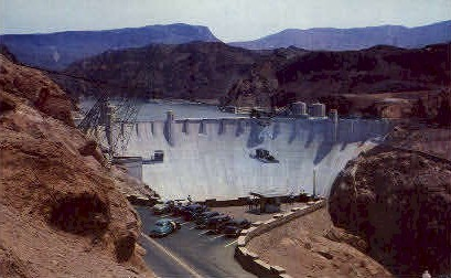 Hoover Dam and Lake Mead - Nevada NV Postcard