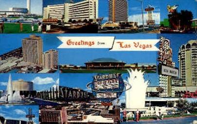 Greetings - Las Vegas, Nevada NV Postcard