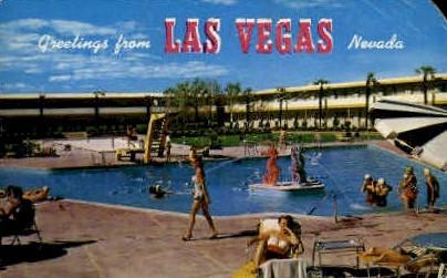 Greetings/Dune's Hotel - Las Vegas, Nevada NV Postcard
