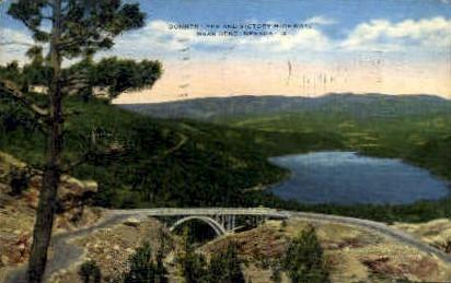 Donner Lake and Victory Highway - Reno, Nevada NV Postcard