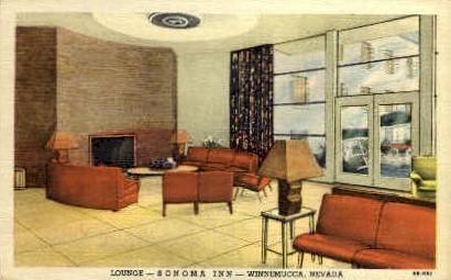 Lounge at the Sonama Inn - Winnemucca, Nevada NV Postcard