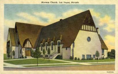 Mormon Church - Las Vegas, Nevada NV Postcard
