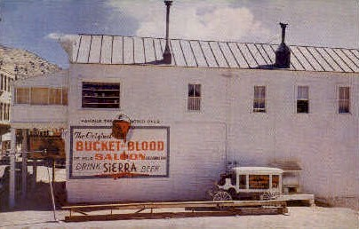The Bucket of Blood Saloon - Virginia City, Nevada NV Postcard