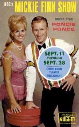 Mickie Finn Show - Reno, Nevada NV Postcard