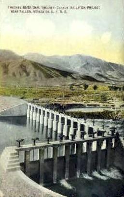 Truckee River Dam - Fallon, Nevada NV Postcard