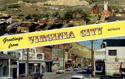 Greetings from VIRGINIA CITY - Nevada NV Postcard