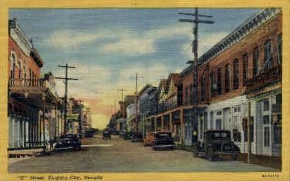 C St. - Virginia City, Nevada NV Postcard