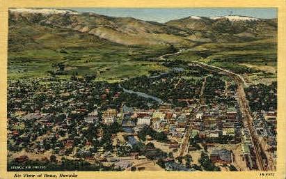 Air View - Reno, Nevada NV Postcard