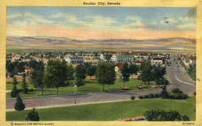 Boulder City - Nevada NV Postcard