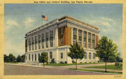 Post Office and Federal Building - Las Vegas, Nevada NV Postcard