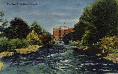 The Truckee River - Reno, Nevada NV Postcard