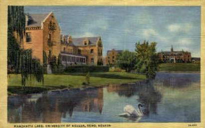 Manzanita Lake - Reno, Nevada NV Postcard