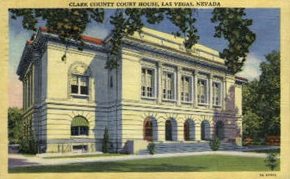 Clark County Court House - Las Vegas, Nevada NV Postcard