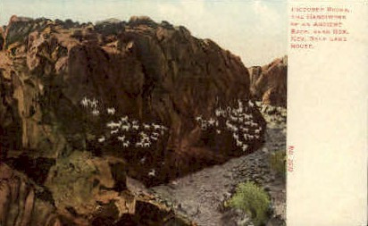 Pictured Rocks - Rox, Nevada NV Postcard