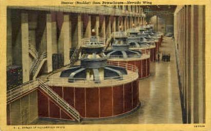 Hoover Dam Powerhouse - Las Vegas, Nevada NV Postcard