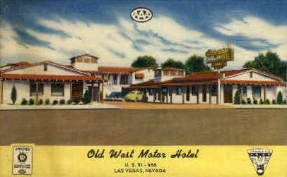 Old West Motor Hotel - Las Vegas, Nevada NV Postcard