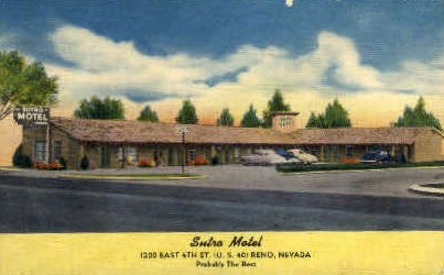 Sutro Motel - Reno, Nevada NV Postcard