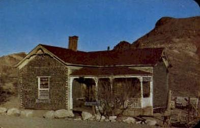 Bottle House - Rhyolite, Nevada NV Postcard