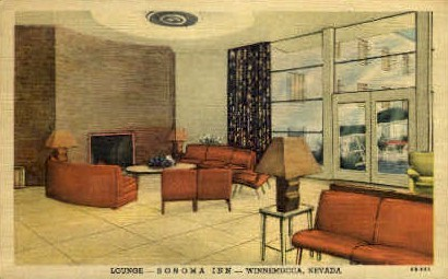 Sonama Inn Lounge - Winnemucca, Nevada NV Postcard