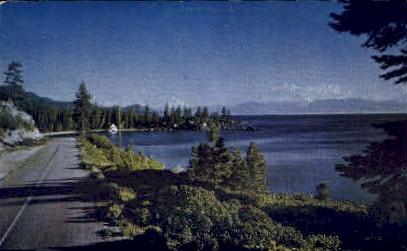 Shoreline Highway - Lake Tahoe, Nevada NV Postcard