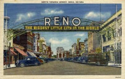 North Virginia Street - Reno, Nevada NV Postcard