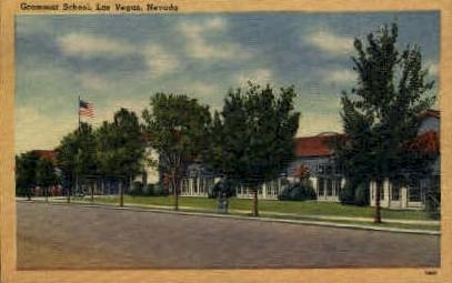 Grammar School - Las Vegas, Nevada NV Postcard