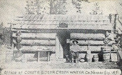Office of Coyote and Deer Creek Water - Nevada City Postcards, Nevada NV Postcard