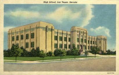 Senior High School - Las Vegas, Nevada NV Postcard