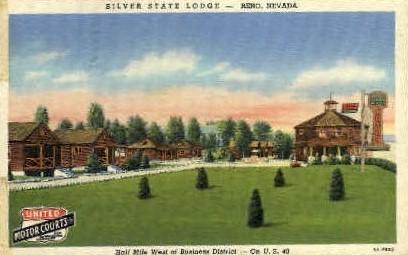 Silver State Lodge - Reno, Nevada NV Postcard