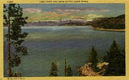 Lake Tahoe   - Nevada NV Postcard
