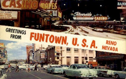 Funtown, U.S.A. - Reno, Nevada NV Postcard