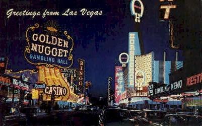 Fremont Street - Las Vegas, Nevada NV Postcard