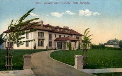 Senator Nixon's Home - Reno, Nevada NV Postcard