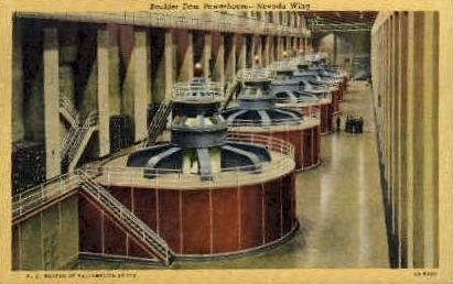 Boulder Dam - Boulder City, Nevada NV Postcard