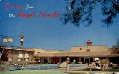 Royal Nevada Hotel - Las Vegas Postcard