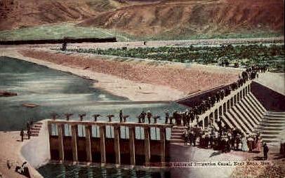 Head Gates of Irrigational Canal - Reno, Nevada NV Postcard