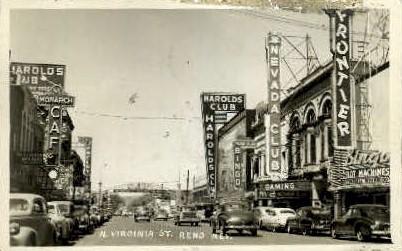 N. Virginia St. - Reno, Nevada NV Postcard