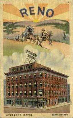 Overland Hotel - Reno, Nevada NV Postcard