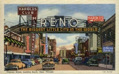 The Biggest Little   - Reno, Nevada NV Postcard