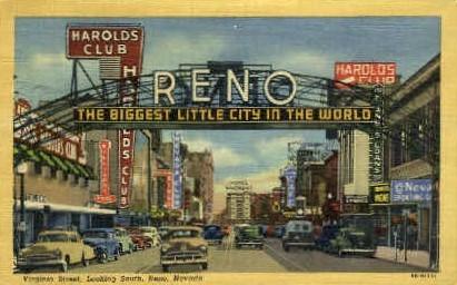 The Biggest Little City   - Reno, Nevada NV Postcard