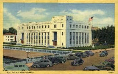 Post Office   - Reno, Nevada NV Postcard