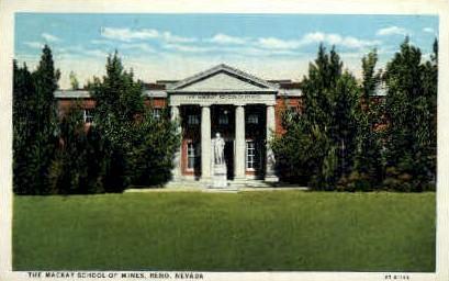 The Mackay School of Mines - Reno, Nevada NV Postcard