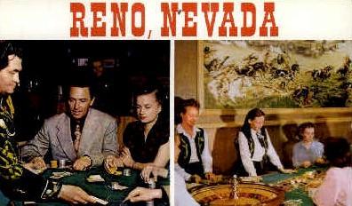 Typical Gambling - Reno, Nevada NV Postcard