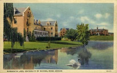 Manzanita Lake, University of Nevada - Reno Postcard