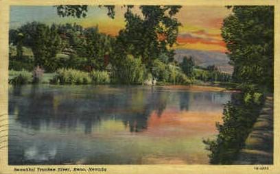 Beautiful Truckee River - Reno, Nevada NV Postcard