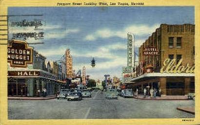 Freemont St. West - Las Vegas, Nevada NV Postcard